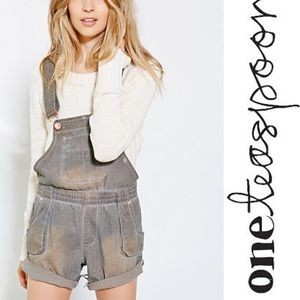 One Teaspoon Joker Worker Overall Shorts
